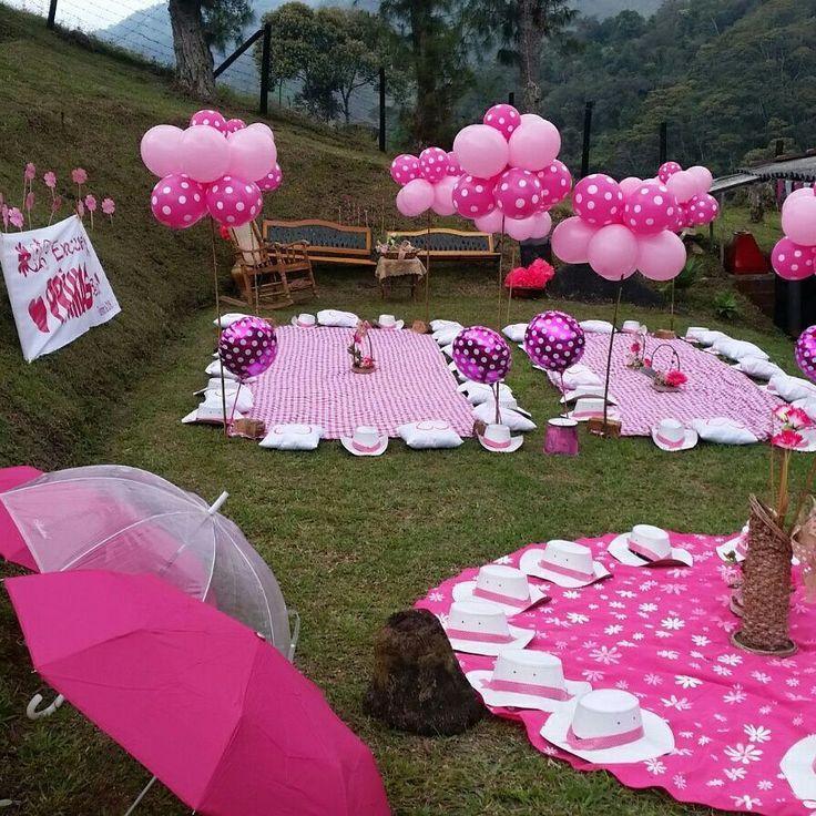 Bombas mantel sombreros picnic picnic fiestas tematicas - Decoracion con biombos ...