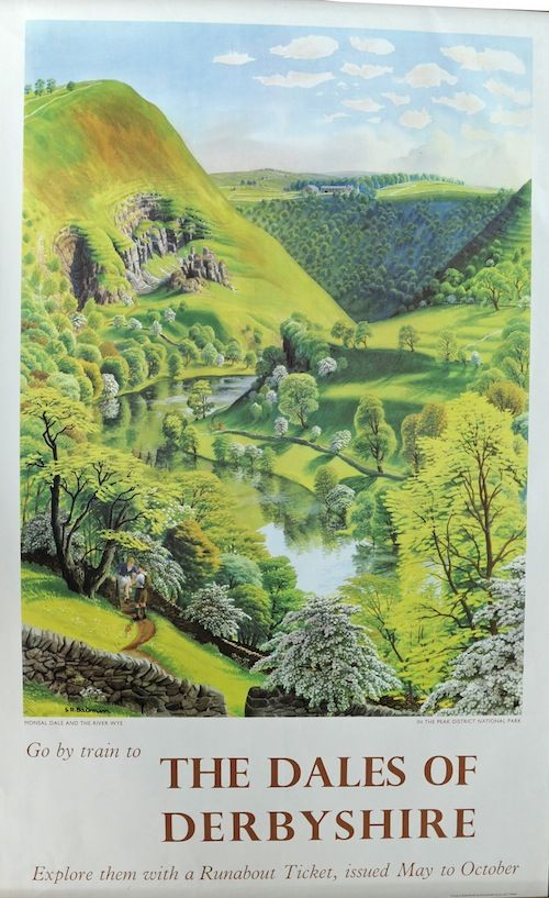 Badmin Derbyshire dales British Railways poster 1950