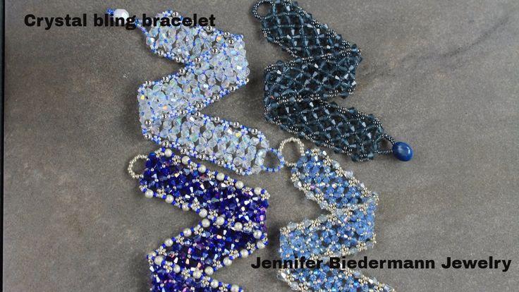 Crystal bling bracelet tutorial