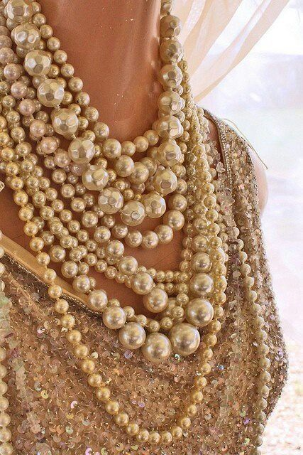 Pearls I would dare to wear with jeans and cream t shirt!  LOVE and yes LOVE! now that is style #stunningottawa