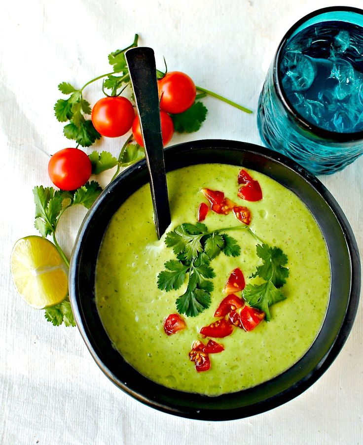 COLOMBIAN CREAM OF AVOCADO SOUP – LIGHTENED UP AND VEGAN