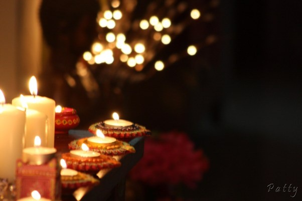 Diwali candles