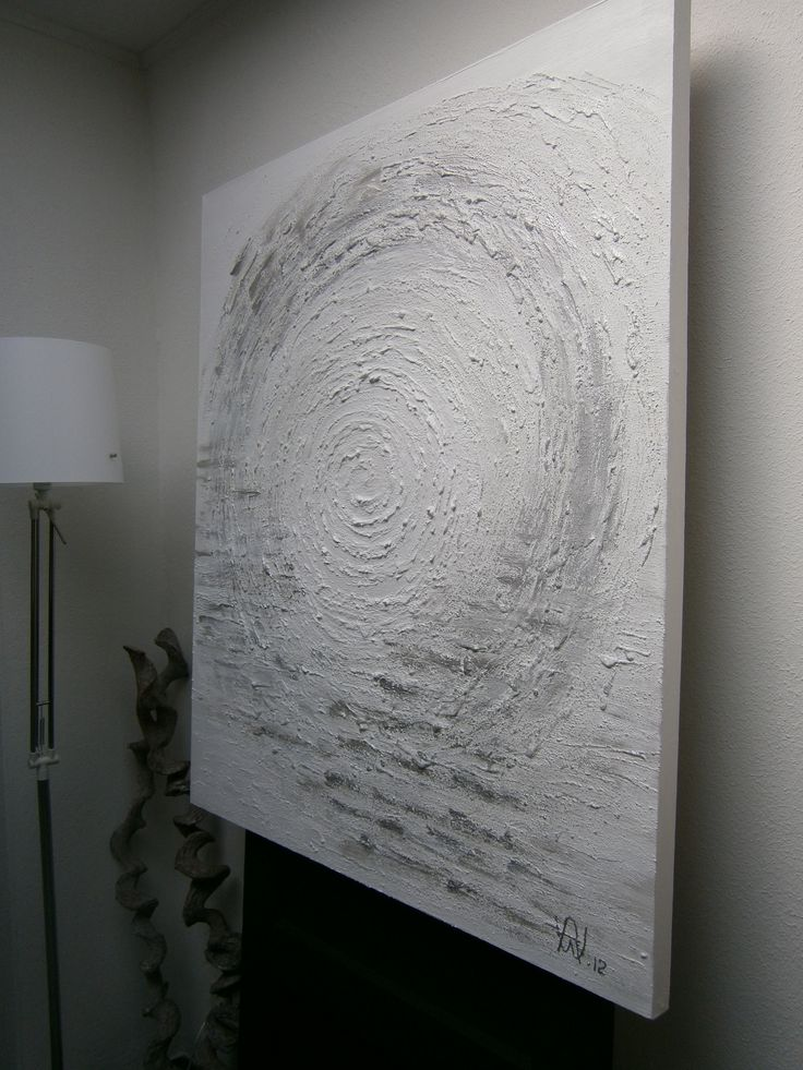 Painting ...Abstact ..White - silver...Home made ...Never Ending......made by Angelique Wind - de Koning .