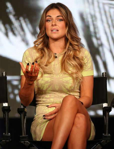 "Serinda Swan Actress Serinda Swan speaks onstage at the ""Graceland"" panel discussion during the USA portion of the 2013 Winter TCA Tour- Day..."