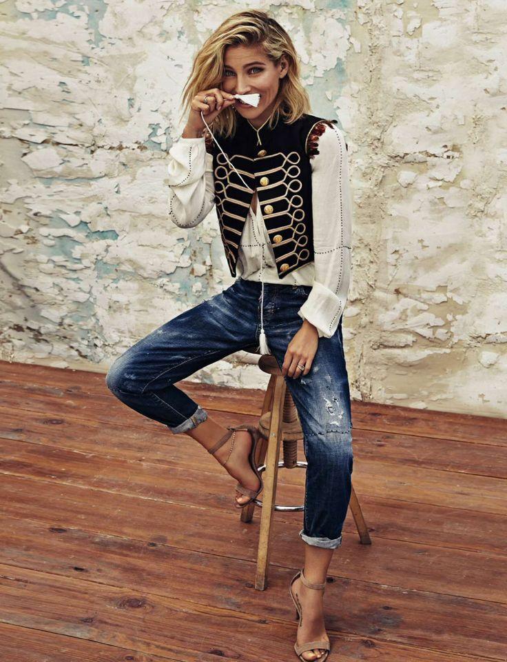Elsa Pataky by Xavi Gordo for Elle Spain December 2015