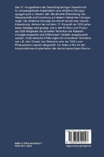 12. Kongreß der Deutschsprachigen Gesellschaft für Intraokularlinsen-Implantation und refraktive Chi