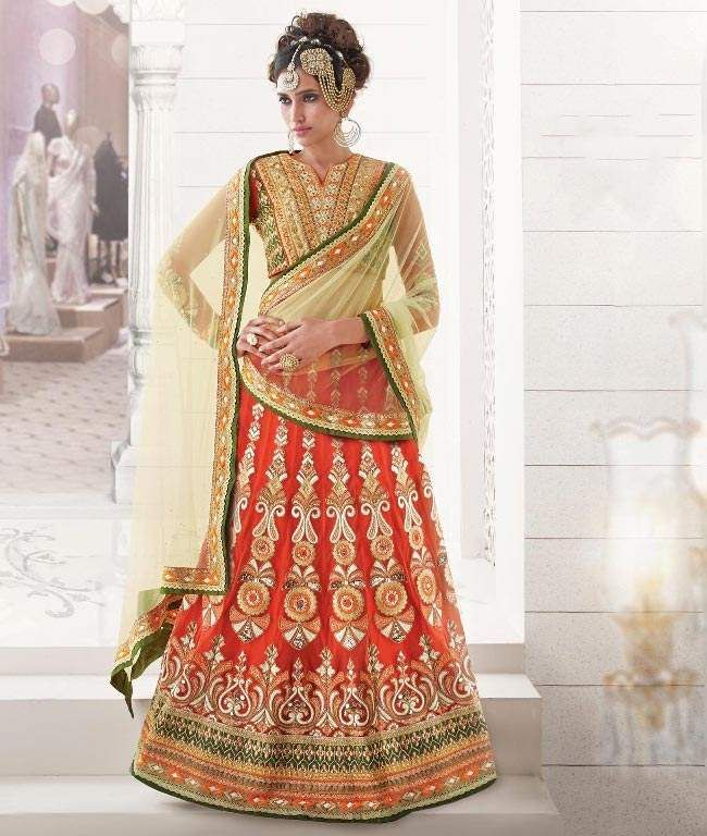 Get #Stunning look at any #wedding & #party with these Designer #LehengaCholi. Buy Now: http://www.shoppers99.com