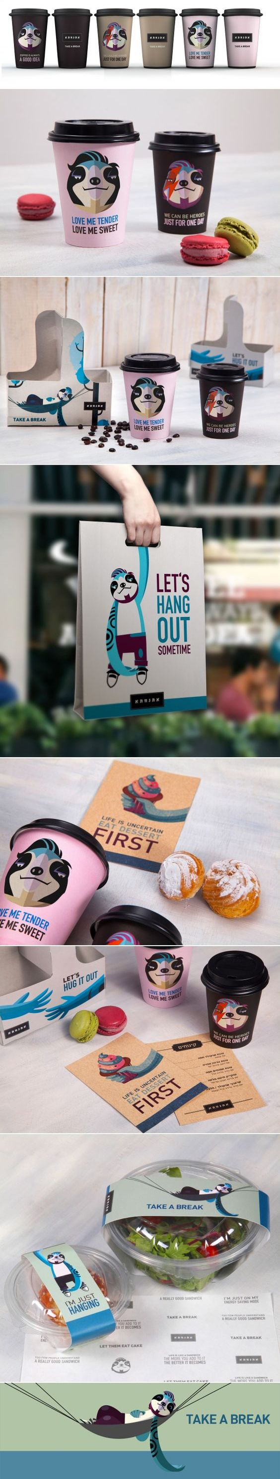 Good Morning! :) Great #Packaging and #branding for Break Coffee Shop by Plan b creative team.