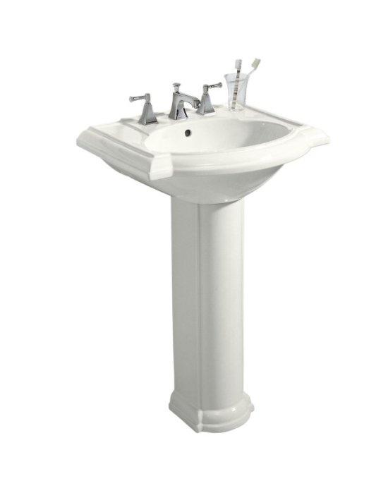 Kohler devonshire pedestal lavatory new powder room - Kohler pedestal sinks small bathrooms ...