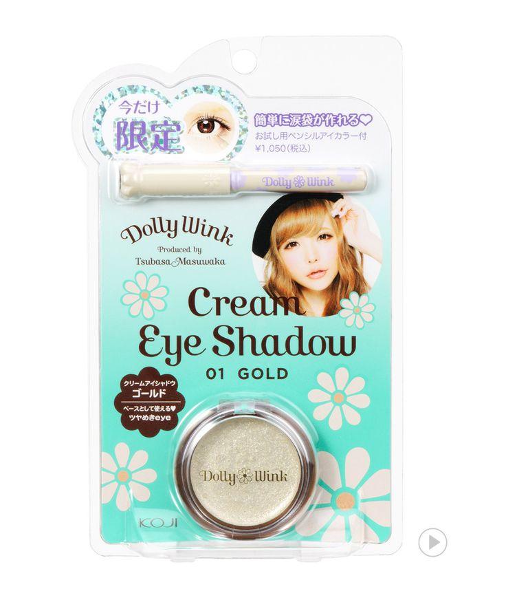 Dolly Wink Cream Eye Shadow 01 Gold   Pencil Eye Color Cream Pearl 1/2