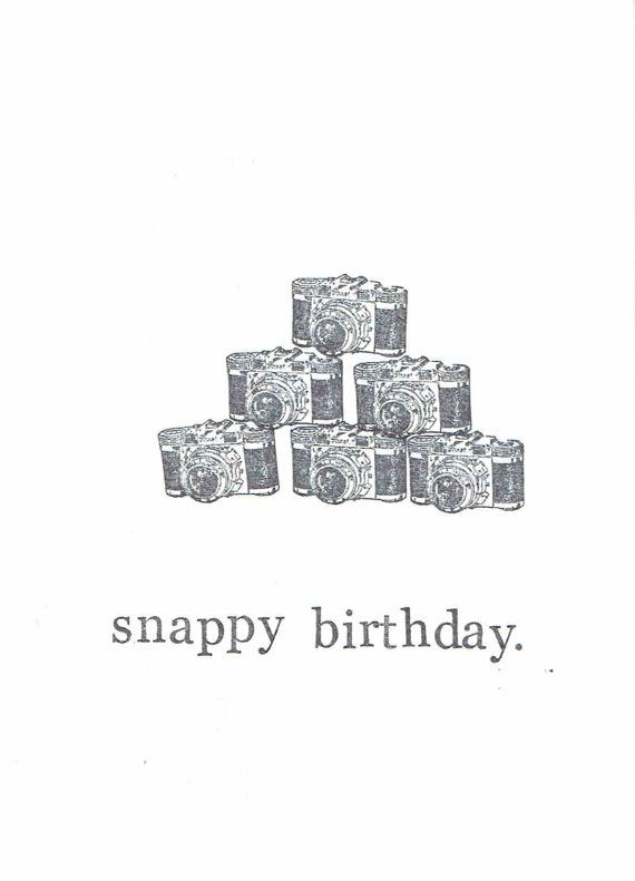 Snappy Birthday Photography Card, $4.00