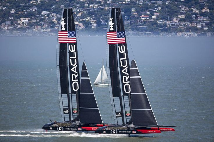 le jeu des sept erreurs : speed tests en baie de San Francisco entre James Spithill and Ben Ainslie (Oracle America's Cup Team)
