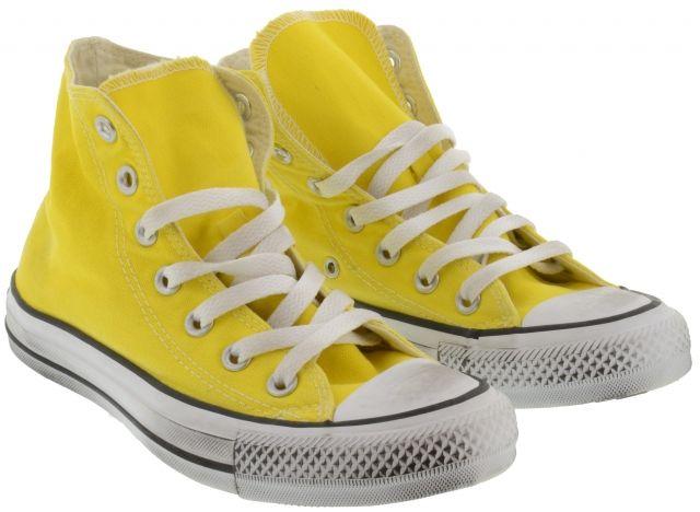 Converse LTD  Yellow Fabric Hi Sneaker