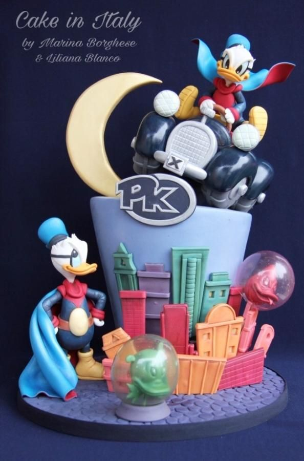 Duck Avenger Cake for Cake Con International Collaboration by Cake in Italy