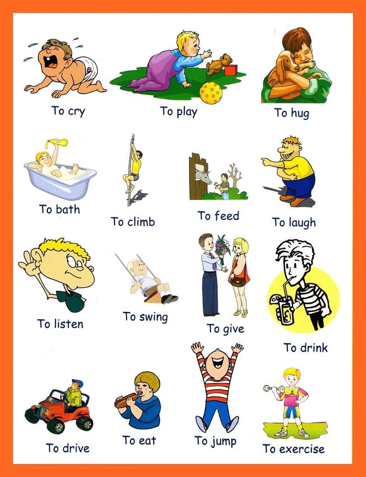 Kid English Verbs List