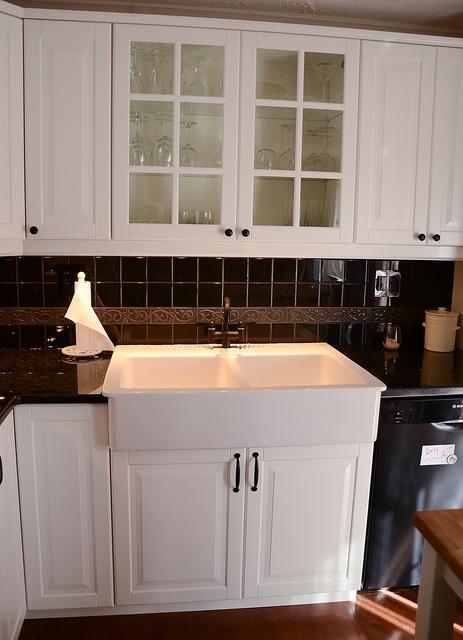 Domsjo Double Bowl Sink With Loviken Faucet.