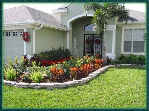 Landscaping ideas for front yard small house gardening for Small flower garden in front of house