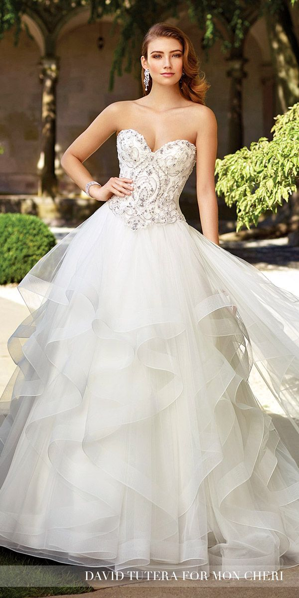 David Tutera Wedding Dresses 2017 For Mon Cheri Bridal ❤ See more: http://www.weddingforward.com/david-tutera-wedding-dresses/ #wedding #dresses #2017