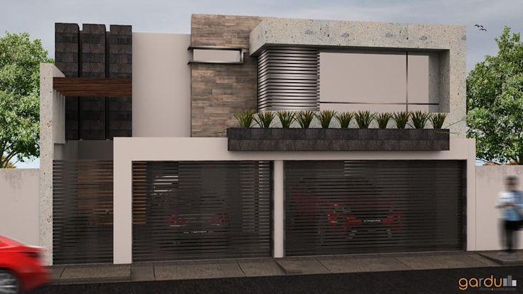 17 mejores ideas sobre fachadas minimalistas en pinterest for Fachadas de casas modernas en hermosillo
