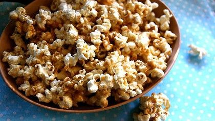 Salted caramel popcorn - would be AMAZING with a sprinkling of our Rose Orange & Vanilla Salt Dust