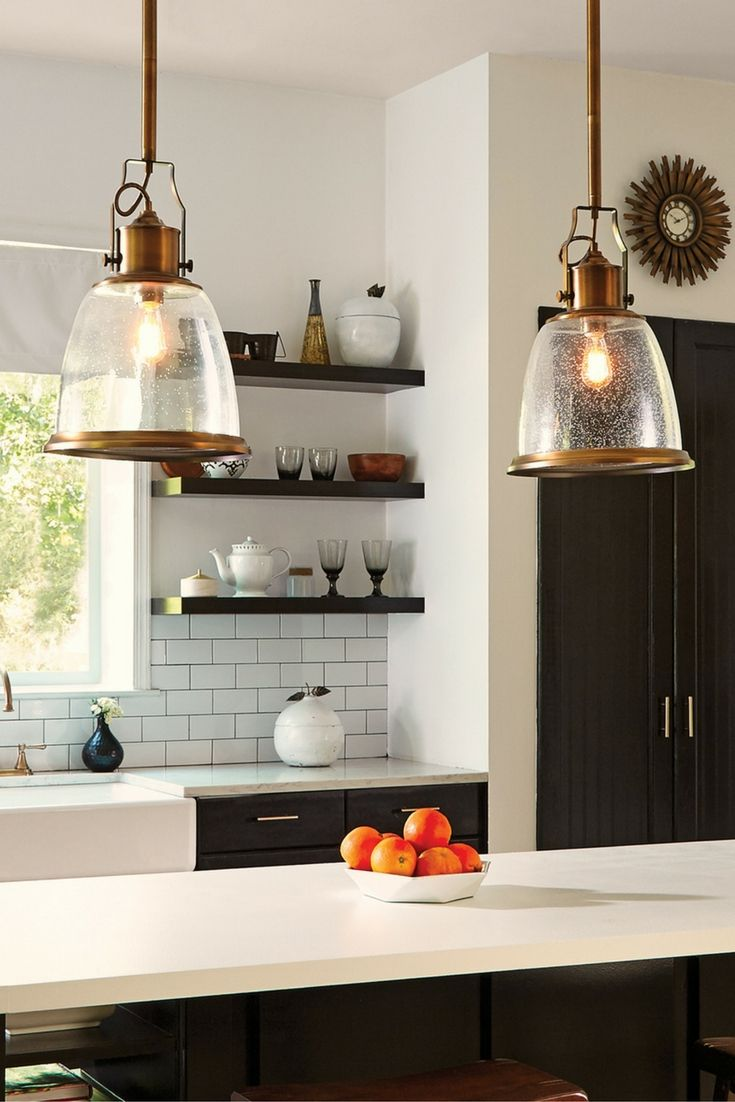 Feiss Hobson Pendants Over A Kitchen Island