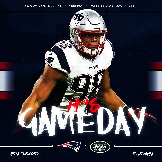 GAMEDAY!! #Patriots will be without Gilmore & Rowe on defense today. It'll be interesting how they'll adjust to that vs Jets. Comment your score predictions #Patsnation