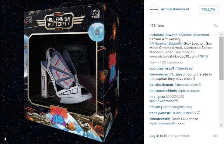 Il designer inglese Nicholas Kirkwood ha realizzato una collezione di scarpe a tacco alto per tutte le donne nerd, ispirate ai miti pop e cinematografici d