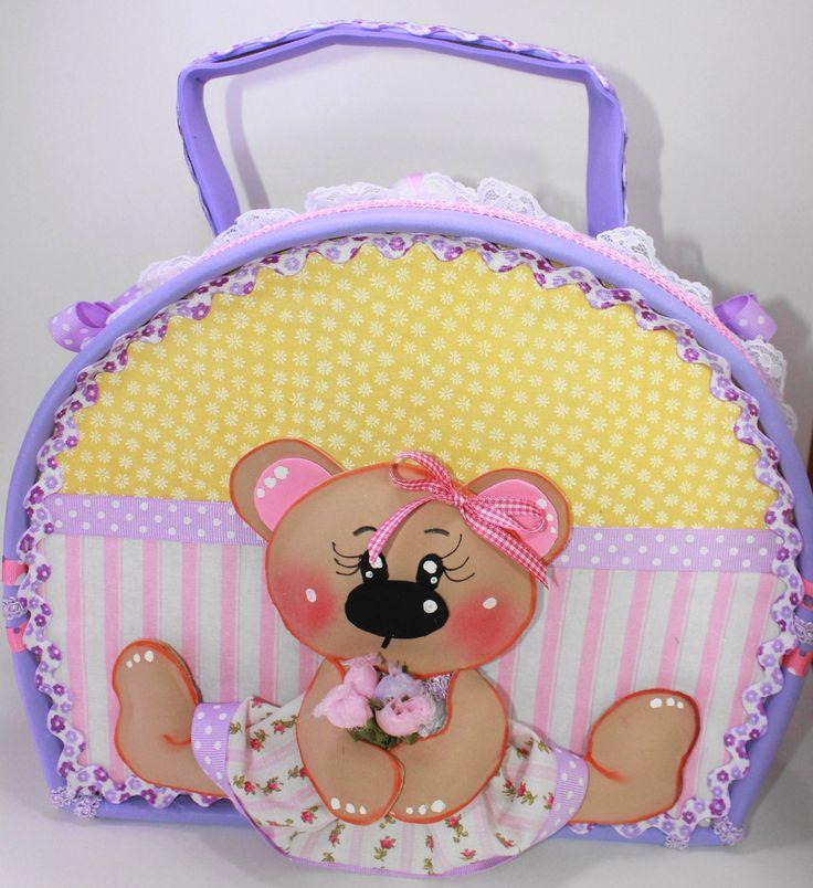 SWEET BEAR  Little Girl Suitcase by SweetBellaLuna on Etsy, $35.00