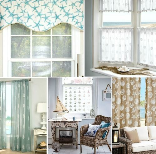 Coastal Nautical Window Treatments Pletely