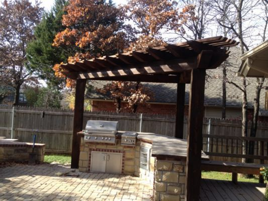 3 Sided Pergola Garden Pinterest Pergolas Backyard