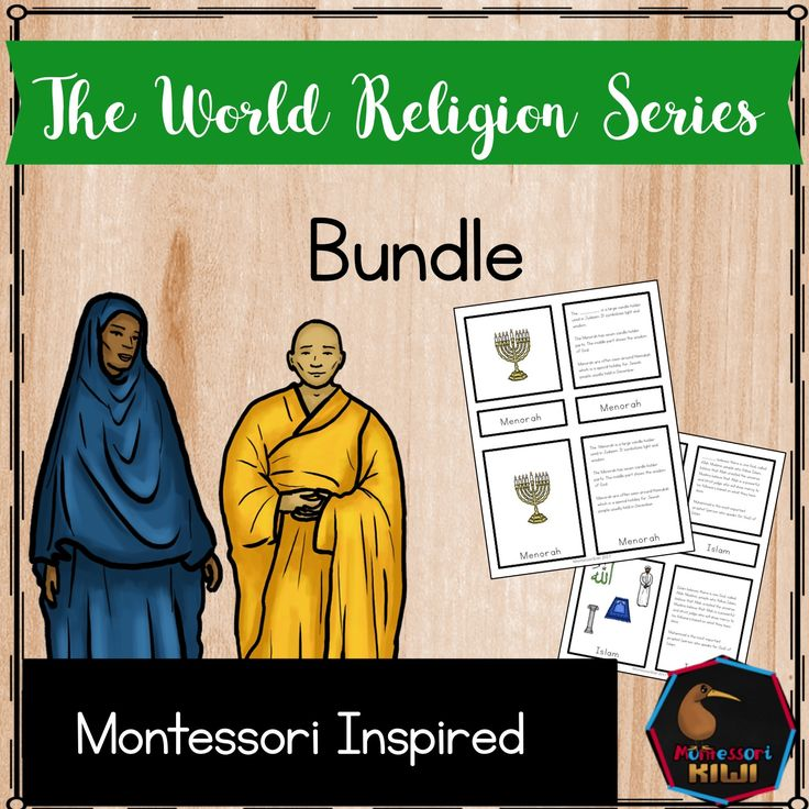 World Religions Bundle montessori inspired activity for elementary world religions 5 part cards
