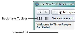 Bookmarks Toolbar - Save Page as PDF
