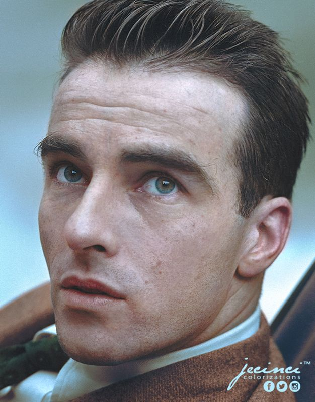 "Edward Montgomery ""Monty"" Clift - colorized by jecinci"
