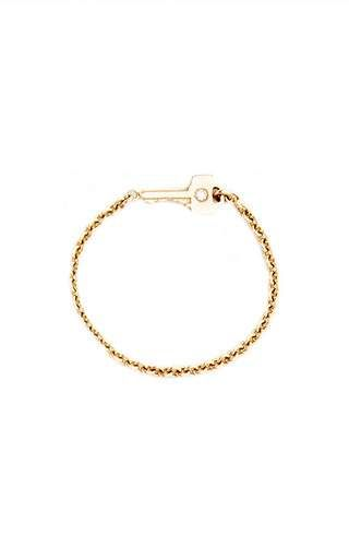 tiny key chain ring with diamond by LAUREN KLASSEN for Preorder on Moda Operandi