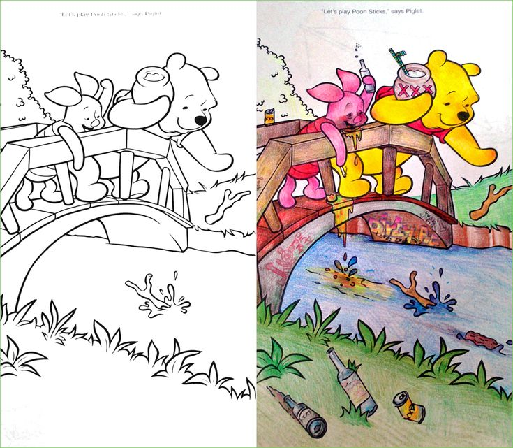 Guest Post Reflections Pooh And Piglet Take A Break To Reflect Reddit User Coloring BooksAdult