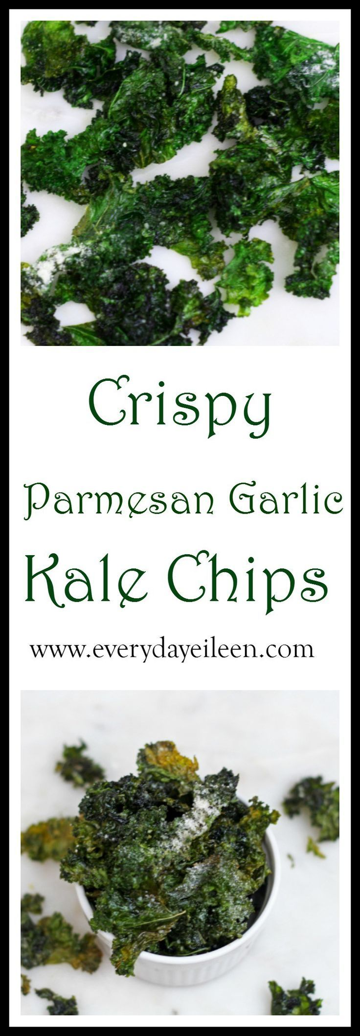 Crispy Roasted Parmesan Garlic Chips! low-fat, gluten-free, delicious and filled with vitamins.  You won't want or need to stop at one chip!