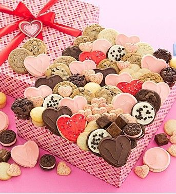 ... Valentine cookies, mini muffins, butter shortbread cookies and