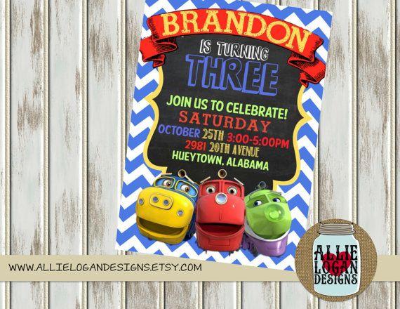 25 best ideas about Chuggington party supplies – Chuggington Party Invitations