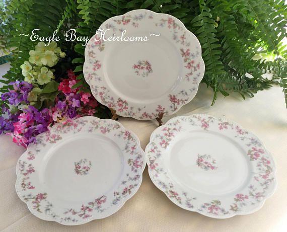 3 Dinner Plates Theodore Haviland \u0026 Co. Schleiger 32A Blank & 7 best Antique French \u0026 German Porcelain images on Pinterest ...