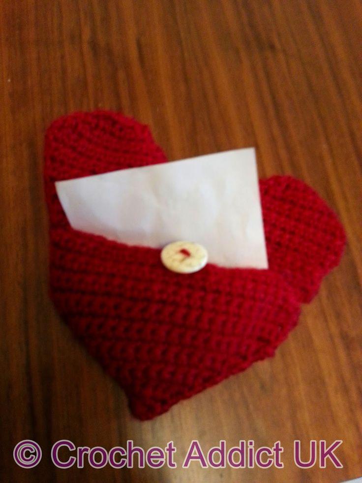 Knitting Pattern Envelope Cushion : Free Crochet Pattern ~ Heart Pillow/Envelope ~ Handmade Hearts ~ Crochet Addi...