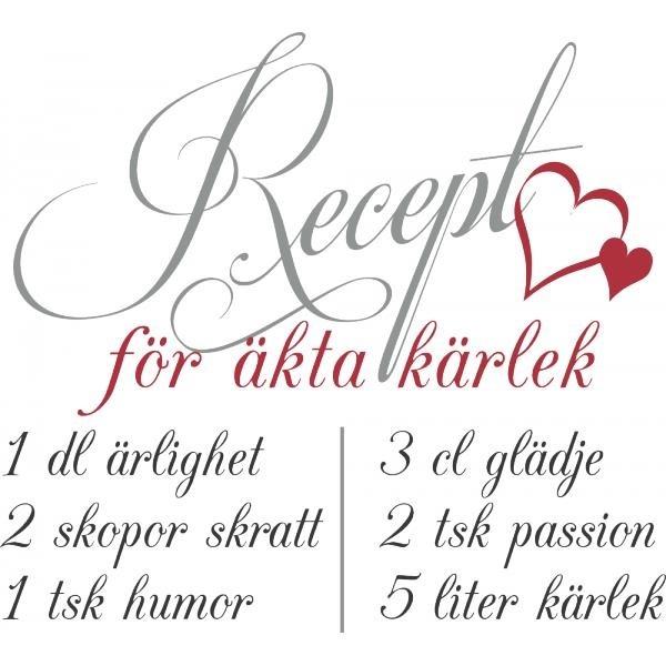 Recipe for TRUE love in Swedish