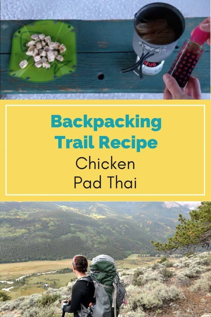 Learn how to make delicious Chicken Pad Thai on your next backpacking trip. This is my most favorite backpacking meal!! #hiking #backpacking
