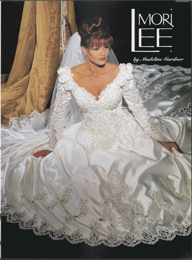 Celebrity Wedding Dresses 1990s : Satin dresses bridal wedding gowns dressses sweetheart