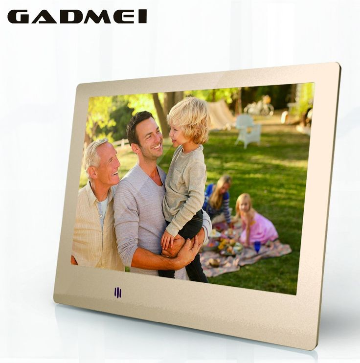 new 8 inch fashion hd metal digital photo frame ultra slim clock calendar