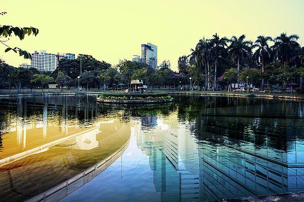 Business Cityscape Of Bangkok Photograph by Nadezhda Tikhaia  #NadezhdaTikhaiaFineArtPhotography #ArtForHome #HomeDecor #Nature #Cityscape  #InteriorDesign #FineArtPrints