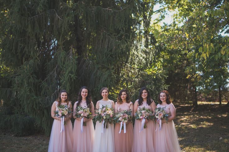 Lovely Wedding Pink Bridesmade dresses