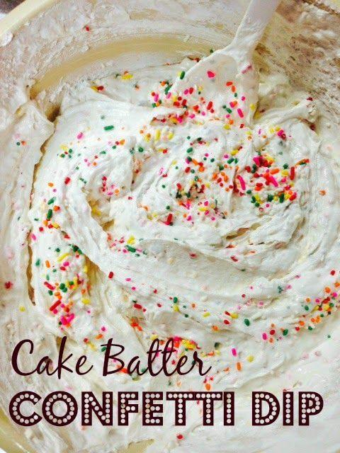 Cake Batter Confetti Dip // Mississippi Mrs. Blog / Foodie Files