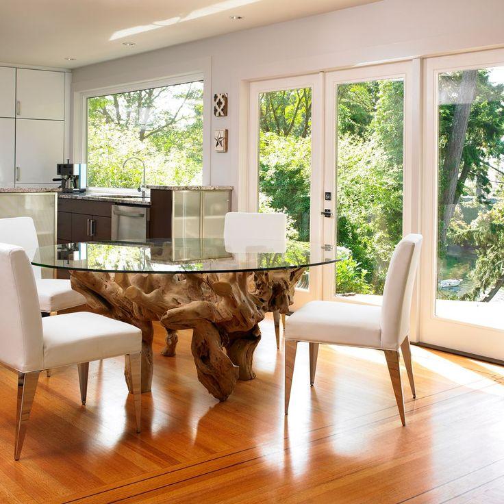 HappyModern.RU | Стеклянные столы для кухни (59 фото): изящная хрупкость с сильным характером | http://happymodern.ru