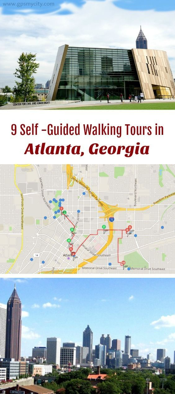 Follow these 10 expert designed self-guided walking tours in Atlanta, Georgia to explore the city on foot at your own pace. Each walk comes with a detailed tour map and together they are the perfect Atlanta city guide for your trip.