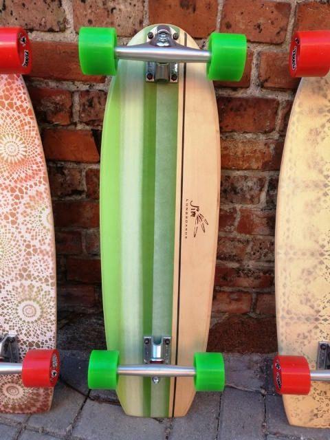 Jim Longboards Cruiser Skateboard Green  cruising  carving